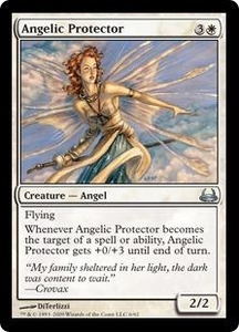Magic the Gathering Duel Decks: Divine vs. Demonic Single Card Uncommon #6 Angelic Protector