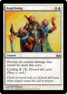 Magic the Gathering Duel Decks: Divine vs. Demonic Single Card Common #15 Angelsong