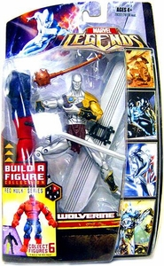 Marvel Legends Exclusive Red Hulk Build-A-Figure Wave Action Figure Silver Savage [Wolverine Error Packaging] Damaged Package, Mint Contents!