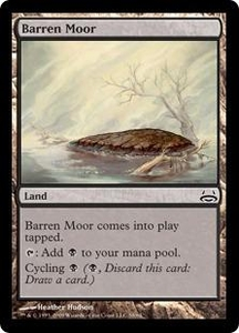 Magic the Gathering Duel Decks: Divine vs. Demonic Single Card Common #58 Barren Moor