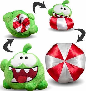 Cut The Rope 6 Inch Reversible Plush Open Mouth Eating / Peppermint Candy