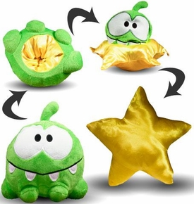 Cut The Rope 6 Inch Reversible Plush Smile Face / Star