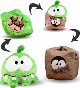 Cut The Rope 6 Inch Reversible Plush Sad Face / Cardboard Box