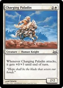 Magic the Gathering Duel Decks: Divine vs. Demonic Single Card Common #4 Charging Paladin