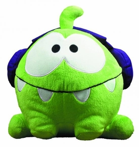 Cut The Rope 8 Inch Plush DJ Box Om Nom with Headphones