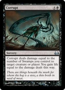 Magic the Gathering Duel Decks: Divine vs. Demonic Single Card Uncommon #55 Corrupt