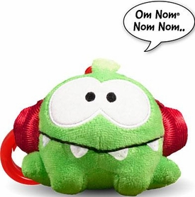 Cut The Rope 3 Inch Talking Plush Back Pack Clip Headphones