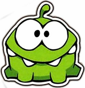 Cut The Rope 4 Inch Om Nom Flat Magnet