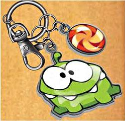 Cut The Rope Om Nom Metal Keychain