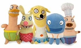 Almost Naked Animals Set of 5 Plush Toys [Howie, Duck, Piggie, Octo & Bunny]