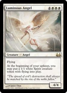 Magic the Gathering Duel Decks: Divine vs. Demonic Single Card Rare #12 Luminous Angel