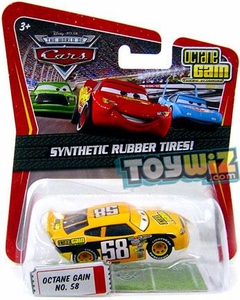 Disney / Pixar CARS Movie Exclusive 1:55 Die Cast Car with Synthetic Rubber Tires Octane Gain