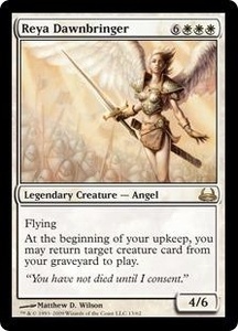 Magic the Gathering Duel Decks: Divine vs. Demonic Single Card Rare #13 Reya Dawnbringer