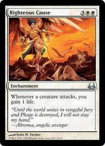 Magic the Gathering Duel Decks: Divine vs. Demonic Single Card Uncommon #22 Righteous Cause