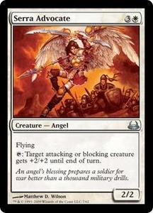 Magic the Gathering Duel Decks: Divine vs. Demonic Single Card Uncommon #7 Serra Advocate