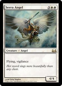 Magic the Gathering Duel Decks: Divine vs. Demonic Single Card Rare #10 Serra Angel