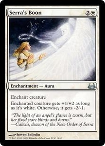 Magic the Gathering Duel Decks: Divine vs. Demonic Single Card Uncommon #18 Serra's Boon