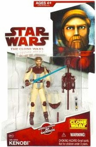Star Wars 2009 Clone Wars Animated Action Figure CW No. 12 Obi-Wan Kenobi [Space Suit]