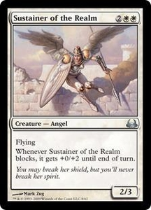 Magic the Gathering Duel Decks: Divine vs. Demonic Single Card Uncommon #8 Sustainer of the Realm