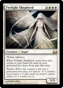Magic the Gathering Duel Decks: Divine vs. Demonic Single Card Rare #11 Twilight Shepherd