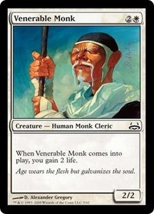 Magic the Gathering Duel Decks: Divine vs. Demonic Single Card Common #5 Venerable Monk