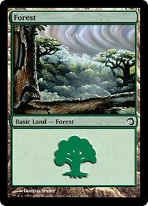 Magic the Gathering Premium Deck Series: Slivers Single Card Land #41 Forest [Random Artwork]