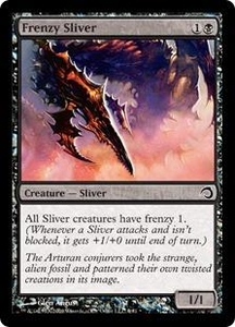Magic the Gathering Premium Deck Series: Slivers Single Card Common #6 Frenzy Sliver