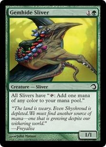 Magic the Gathering Premium Deck Series: Slivers Single Card Common #8 Gemhide Sliver