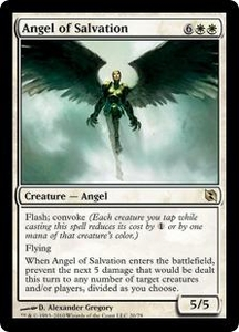 Magic the Gathering Duel Decks: Elspeth vs. Tezzeret Single Card Rare #20 Angel of Salvation