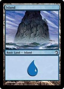 Magic the Gathering Premium Deck Series: Slivers Single Card Land #38 Island [Random Artwork]