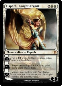 Magic the Gathering Duel Decks: Elspeth vs. Tezzeret Single Card Mythic Rare #1 Elspeth, Knight-Errant