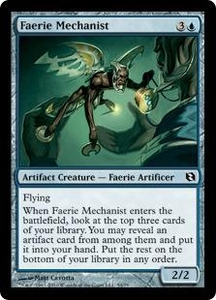 Magic the Gathering Duel Decks: Elspeth vs. Tezzeret Single Card Common #54 Faerie Mechanist