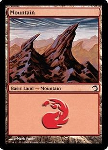 Magic the Gathering Premium Deck Series: Slivers Single Card Land #40 Mountain [Random Artwork]