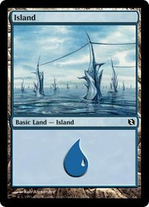 Magic the Gathering Duel Decks: Elspeth vs. Tezzeret Single Card Land #76 Island [Random Artwork]