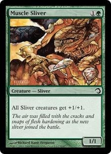 Magic the Gathering Premium Deck Series: Slivers Single Card Common #9 Muscle Sliver