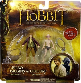Hobbit: Unexpected Journey 3.75 Inch Action Figure 2-Pack Bilbo Baggins & Gollum