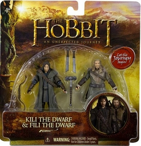 Hobbit: Unexpected Journey 3.75 Inch Action Figure 2-Pack Kili & Fili