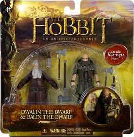 Hobbit: Unexpected Journey 3.75 Inch Action Figure 2-Pack Dwalin & Balin