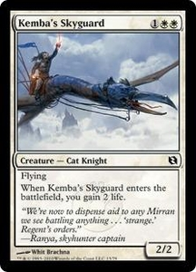 Magic the Gathering Duel Decks: Elspeth vs. Tezzeret Single Card Common #13 Kemba's Skyguard