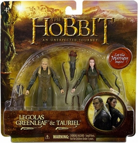 Hobbit: Unexpected Journey 3.75 Inch Action Figure 2-Pack Legolas Greenleaf & Tauriel