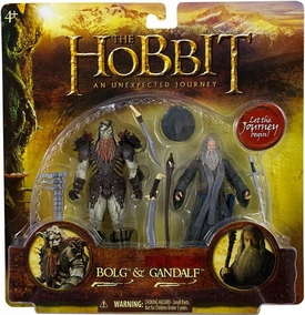Hobbit: Unexpected Journey 3.75 Inch Deluxe Action Figure 2-Pack Bolg & Gandalf