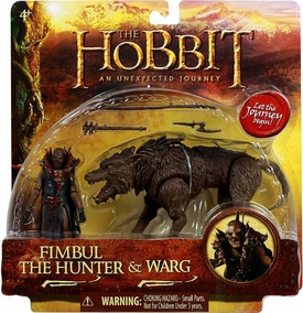 Hobbit: Unexpected Journey 3.75 Inch Beast Pack Fimbul the Hunter & Warg