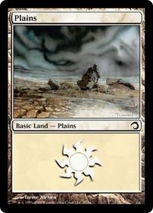 Magic the Gathering Premium Deck Series: Slivers Single Card Land #37 Plains [Random Artwork]