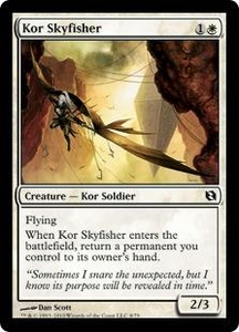 Magic the Gathering Duel Decks: Elspeth vs. Tezzeret Single Card Common #8 Kor Skyfisher