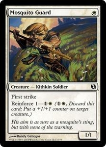 Magic the Gathering Duel Decks: Elspeth vs. Tezzeret Single Card Common #6 Mosquito Guard