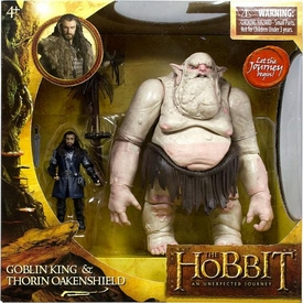 Hobbit: Unexpected Journey 3.75 Inch Action Figure Battle Pack Goblin King & Thorin Oakenshield