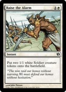 Magic the Gathering Duel Decks: Elspeth vs. Tezzeret Single Card Common #25 Raise the Alarm