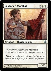 Magic the Gathering Duel Decks: Elspeth vs. Tezzeret Single Card Uncommon #15 Seasoned Marshal