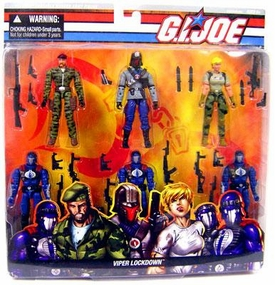G. I. JOE Hasbro 3 3/4 Inch Action Figure Boxed Set Viper Lockdown