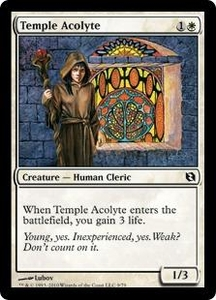 Magic the Gathering Duel Decks: Elspeth vs. Tezzeret Single Card Common #9 Temple Acolyte